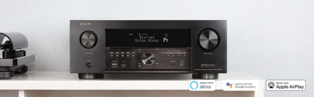 Denon AVR-4500h Review - Picture of Denon on Bookshelf